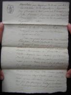 Vittel Brumaire An 12 Acquêt De Jean Vincent Petitjean  Sur Jacques Alexandre De Giroville - Manuscripts