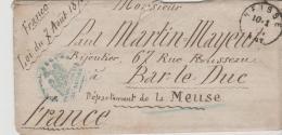 NDP152 /Norddeutscher Postbezirk -Krieg 1870 - 71. Franz. Kriegsgefangener, Interniert In Neisse. Mit Kompl. Briefinhalt - Norddeutscher Postbezirk