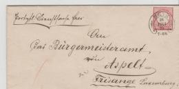 BRS234 / Metz, Hufeisenstempel 1874 Auf Portopflichtiger Dienstsache Nach Luxemburg