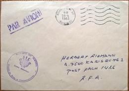 16670# LETTRE PAR AVION FRANCHISE POSTALE Obl BUJUMBURA BURUNDI 1983 KARLSRUHE RFA - 1980-89: Oblitérés