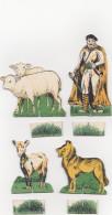 Vintage - Le Berger Et Son Troupeau / Animaux De La Ferme Dans La Boîte D'origine - Dieren