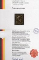 Edition Raritäten In Gold Deutschland BUND 147 ** 50€ Mit 23 Karat Feingold Nobel-Preis Porträt Röntgen Stamp Of Germany - BRD