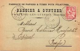 FONTAINE LES LUXEUIL - 3 Cartes Différentes 1902 Et 1903 De BARBIER Et GUNTHER + Son Successeur GEIGER Et ROGNANT - France