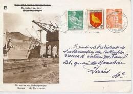 CTN45- EP CP GANDON 12fr TSC ROCHEFORT CIRCULEE - Postal Stamped Stationery