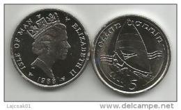 Isle Of Man 5 Pence 1988. UNC - Isle Of Man