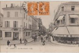 CPA 79 NIORT La Rue Ricard Commerces Café Banque Société Générale 1922 - Niort