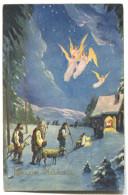 New Year, Neujahr - Christmas, Weihnachten, Angel - Noël