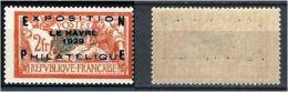 """YT 257A """" Exposition Philatélique Du Havre """" 1927 Neuf**"""