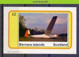 Myp255 TRANSPORT VLIEGTUIGEN ZWEEFVLIEGTUIG PLANES GLIDER PLANE FLUGZEUG BERNERA ISLANDS SCOTLAND 1982 PF/MNH - Fantasie Vignetten