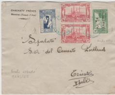 Tur123 / Brief (cover) Mersine Nach Triest 1923 - 1920-21 Anatolia