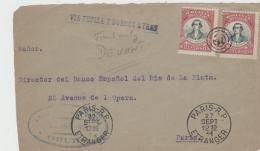 BOL095 / Befreiung Von Santa Crus, Centenario 1911 Nach Paris Via Tupiza Und Buenos Aires - Bolivien