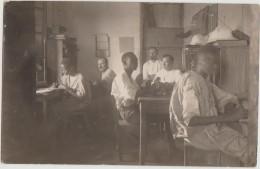 CPA PHOTO Troupes Coloniales Bureau Casques Photographe Marcel LAUROY Maroc Sahara Et Afrique De L'Ouest Rare - Personnages