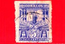 MESSICO -  Usato - 1898 - Monumenti - Statua Cuauhtemoc - 5 - México