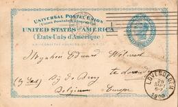1900 - USA - ENTIER POSTAL DE 2 CENTS DE NEW-YORK POUR LA BELGIQUE - VENDU EN L'ETAT - Enteros Postales