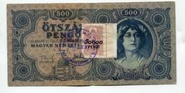 "Hongrie Hungary Ungarn 500 Pengo 1945 Ovp STAMP "" 50000 PENGO "" - Hongrie"