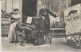 CAFE TIVOLI  CAFE DES COLONNES VIRGILE PRESENTE  Carte Legerement Froissee ) - Spectacle