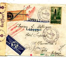 FRANCE  LETTRE RECOMMANDEE DE 1943 AVEC CENSURE EXPO PHILATELIQUE PARIS LA POSTE AERIENNE - France