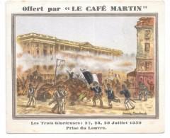 CHROMO - LE CAFE MARTIN -  Les Trois Glorieuses - Unclassified