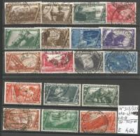 B2LR57--  REGNO D'ITALIA,    N°  325/339+P.A. 43+EX 17-18-,    1932, - Usati