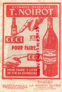 87 - SAINT JUNIEN- BUVARD T. NOIROT QUINQUINA - LA MAISON BLENY -22 RUE SALER - ALIMENTATION GENERALE - Food