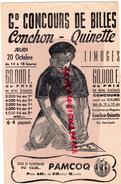 87 - LIMOGES - BUVARD GRAND CONCOURS DE BILLES- MAGASIN CONCHON-QUINETTE -JEUX PÄMCOQ- ENFANT - Blotters