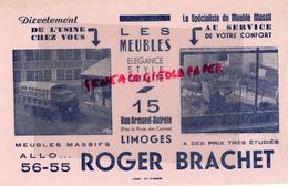 87 - LIMOGES - BUVARD MEUBLES ROGER BRACHET - 15 RUE ARMAND DUTREIX- MOBILIER AMEUBLEMENT - Buvards, Protège-cahiers Illustrés
