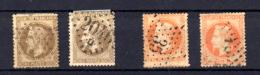 Napoléon III,  30c Et 40c  Deux Ex. De Chaque  30 / 31 Oblitérés, Cote 100 €, - 1863-1870 Napoléon III Lauré
