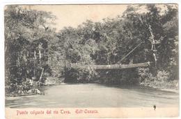 POSTAL  - OAXACA  -MEXICO  - PUENTE COLGANTE DEL RIO TAVA - Messico