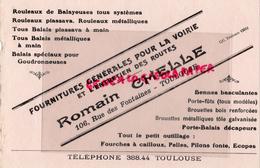31 - TOULOUSE - BUVARD ROMAIN CHELLE-106 RUE DES FONTAINES- FOURNITURES POUR LA VOIRIE ET ROUTES - Macchina