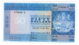 HONG KONG, 50 Dollars 1968, XF/aUNC. Free Economic Ship. To USA - Hong Kong