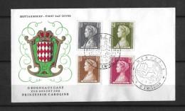 FIRST DAY COVER 1957 → Gedenkausgabe Zur Geburt Der Prinzessin Caroline - Monaco