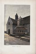1901 - Phototypie Couleur - Trégastel (Côtes-d'Armor) - L'église Et L'ossuaire - FRANCO DE PORT - Alte Papiere