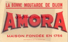 21 - DIJON - BUVARD AMORA - MOUTARDE - MAISON FONDEE EN 1756 - Mostard