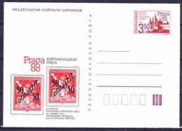 Tchécoslovaquie 1988, Entier (CDV 223.2) - Postal Stationery