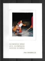 OLYMPISCHE SPIELE 1964 INNSBRUCK → Wunderschöne Gedenkausgabe Mit Foto Und Kompl.Satz - 1948-.... Républiques