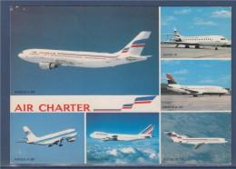 Carte Postale, Flotte Air Charter Filiale Air France, Airbus A300, Boeing B747, B727, B737 Et Super 10 - 1946-....: Moderne