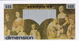 1 SPÉCIMEN VRAIE FAUSSE MONNAIE EXEMPLE DE DIMENSION POUR LE BILLET DE 500 FRANCS PASCAL FICTIF ? - Fiktive & Specimen