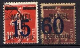 Memel 1921 Mi 34-35, Gestempelt [301016XIII] - Memelgebiet