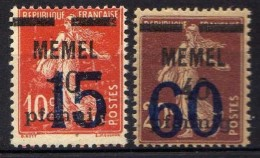 Memel (Klaipeda) 1921 Mi 34-35 ** [301016XIII] - Memelgebiet