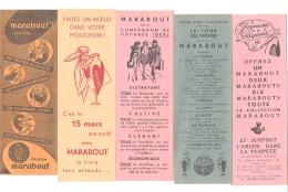 """Lot De 6 Marque-pages """" MARABOUT """" - Verviers - Livre, Littérature,...(b194) - Marque-Pages"""