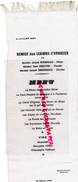 87 - LIMOGES - MENU SUR SOIE -SILK- RESTAURANT BONICHON-REMISE LEGION HONNEUR- BERNARDAUD-DESCOTTES-VANDERMARCQ - Menus