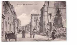 CPA GRANDE GUERRE 1914 1918 RUINES LILLE Rue Du Molinel Carte Non Voyagée - Weltkrieg 1914-18