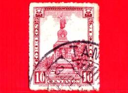 MESSICO -  Usato - 1923 - Attrazioni - Statua - Cuauhtemoc - 10 - México
