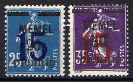 Memel 1920 Mi 47-48  ** [301016XIII] - Memelgebiet