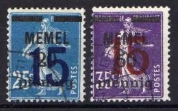 Memel 1921 Mi 47-48, Gestempelt [301016XIII] - Memelgebiet