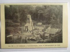 1924 - VAUX EN BUGEY  - Puit De Pétrole Forage Sondage  - Ancienne Coupure De Presse Originale (encart Photo) - Documents Historiques