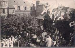 CPA - 76 -  Photo - Carte Photo - Animée - Soeurs Franciscaines - Rouen - 1923 - Mgr Mélisson - Chanoine Lesourd - Rouen