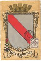 FR-CM13 - FRANCE N° 735 Carte Maximum Libération De Strasbourg 1945 - 1940-49