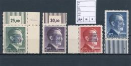 ★★ GERMANY WURZEN (SACHSEN) ( SOWJETISCH ZONE) 1,2,3,5 RM  1945  ★★ (**) UNUSED RARE.  ★&# - Unused Stamps