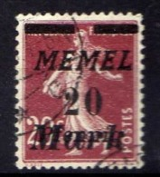 Memel 1922 Mi 109, Gestempelt [301016XIII] - Memelgebiet